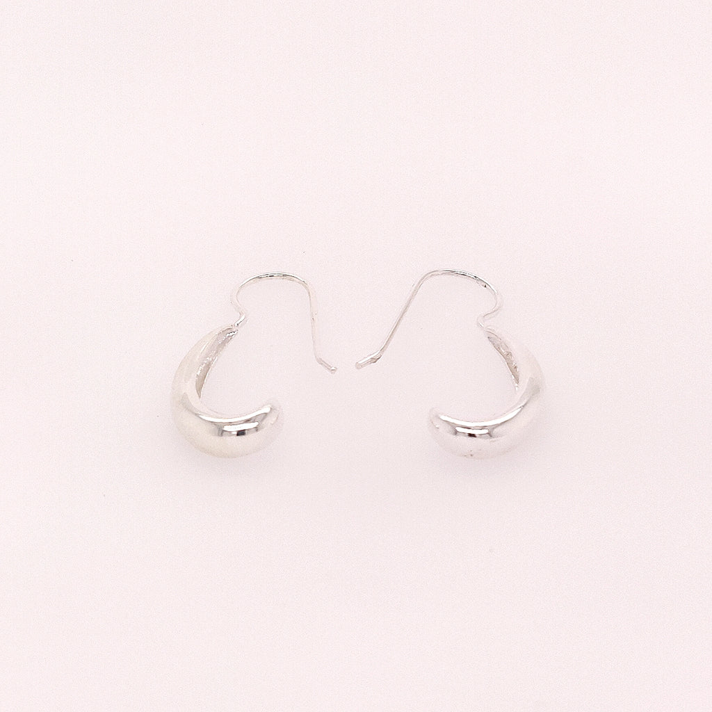 Crisson Original Sterling Silver 'J' Drop Earrings - HPS1665