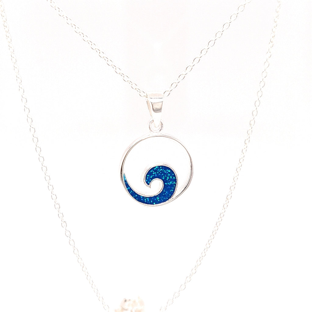 Crisson Original Spinel Wave Necklace in Sterling Silver - TN812 18""