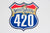 420 Highway Sticker