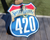 420 Highway Sign-Large 3x3