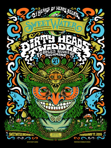 21st Anniversary Band Poster