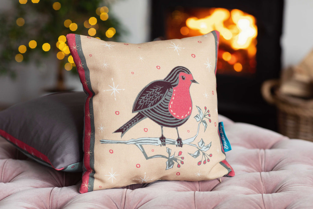 The Little Mr Robin Cushion is perfect for adding a unique and modern twist to your festive decor - it would also make the perfect gift for any nature lover.