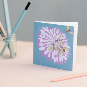 Bee on Flower Design Blank Occasion Greeting Card