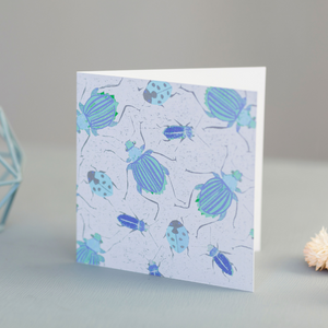 All Over Beetle Design Luxury Blank Occasion Greeting Card