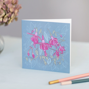 Fuchsia Design Luxury Blank Occasion Greeting Card