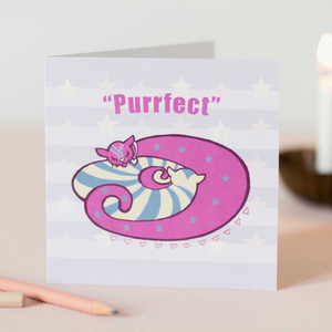 Purrfect Kitten Design Luxury Blank Greeting & Occasion Card