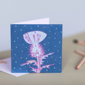 Scottish Thistle Design Luxury Blank Greeting & Occasion Card