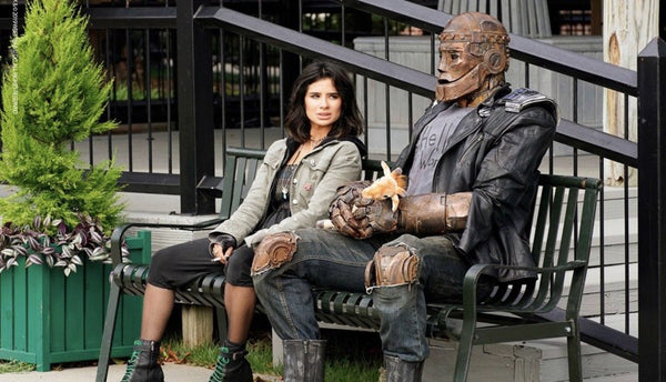 From left: Crazy Jane and Cliff Steele, a.k.a. Robotman