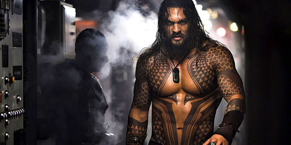 Jason Momoa as Aquaman, seen here in a still from the first film