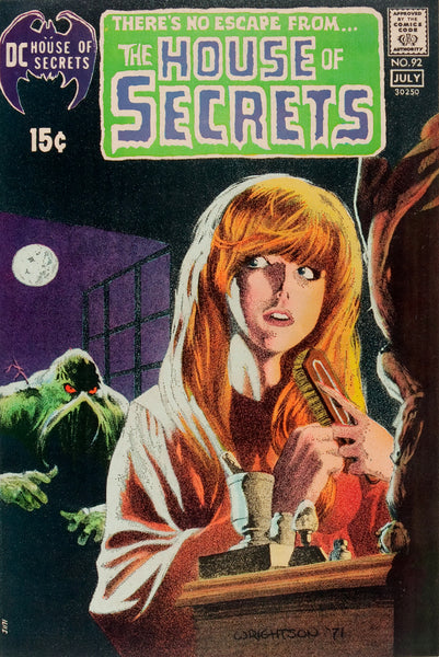 Cover for House of Secrets #92 (1971): First appearance of Swamp-Thing