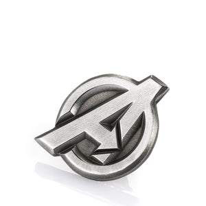 royal selangor hand finished marvel collection pewter avengers insignia lapel pin