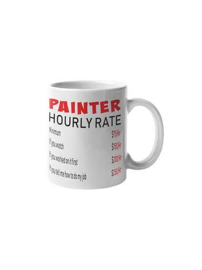 Painter Hourly Rate Coffee Mug