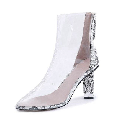 Bottines Serpent<br> Transparente - 40 / BLANC - Chaussures