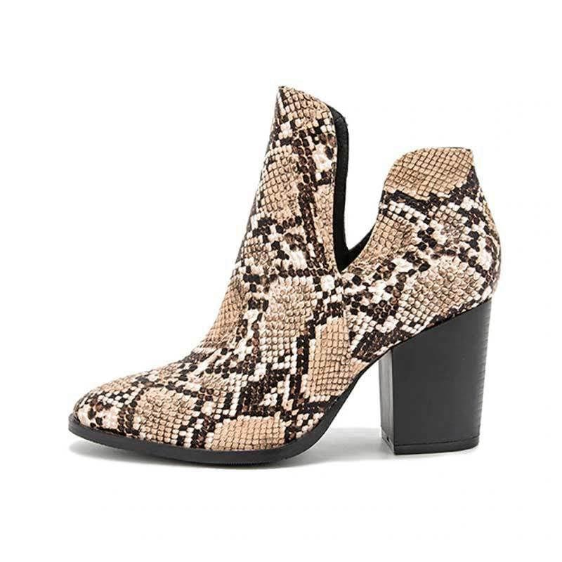 Bottines Beige Serpent | Instinct Serpent