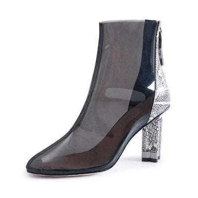 Bottines Serpent<br> Transparente - 34 / NOIR - Chaussures