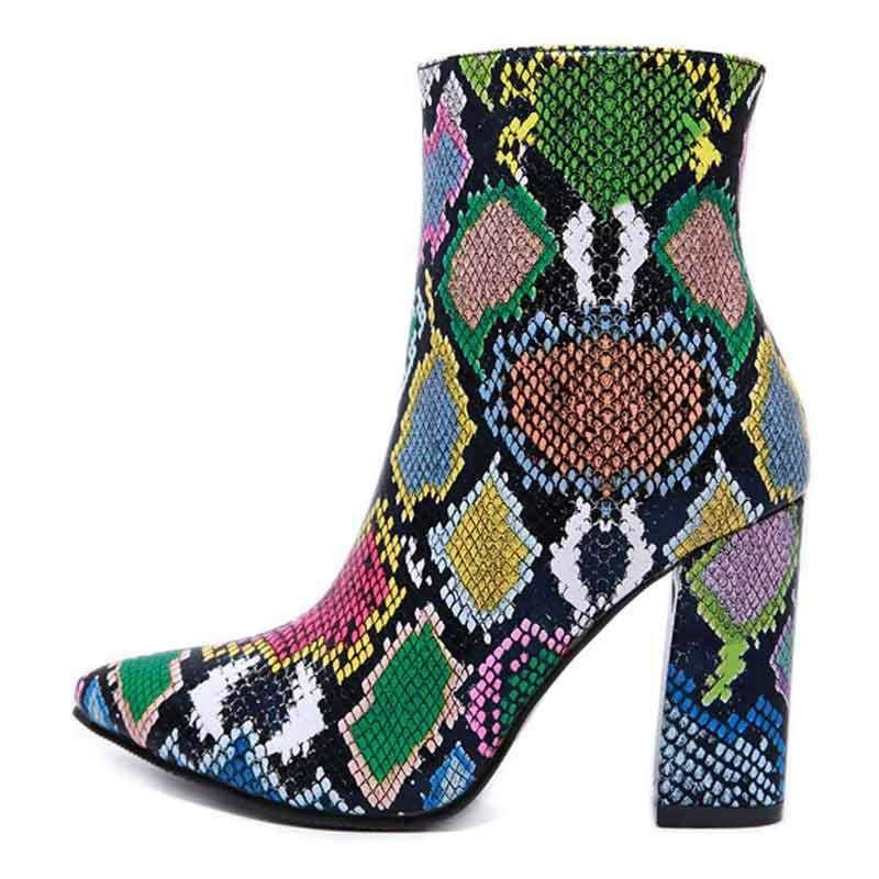 Bottines Python Bleu | Instinct Serpent