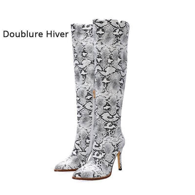 Bottes Serpent<br> Mariah - 42 / BLANC - Chaussures