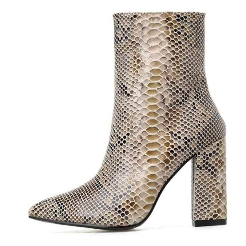 Bottines Python Marron | Instinct Serpent