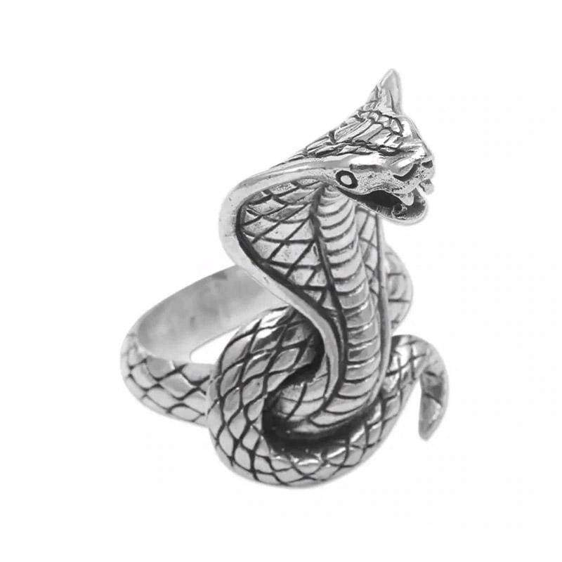 Bague Cobra Royal Acier | Instinct Serpent
