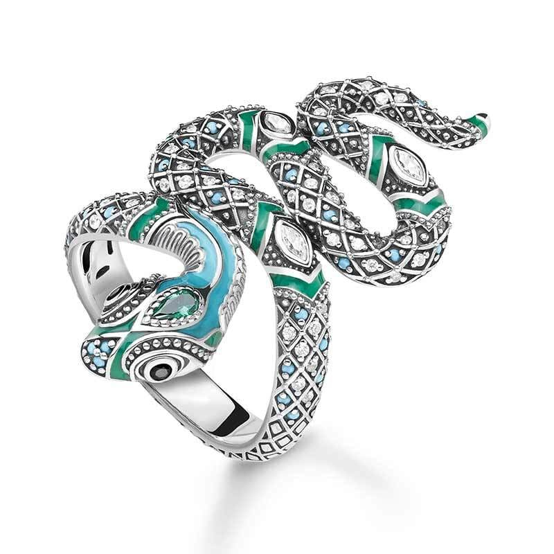 bague serpent tropical
