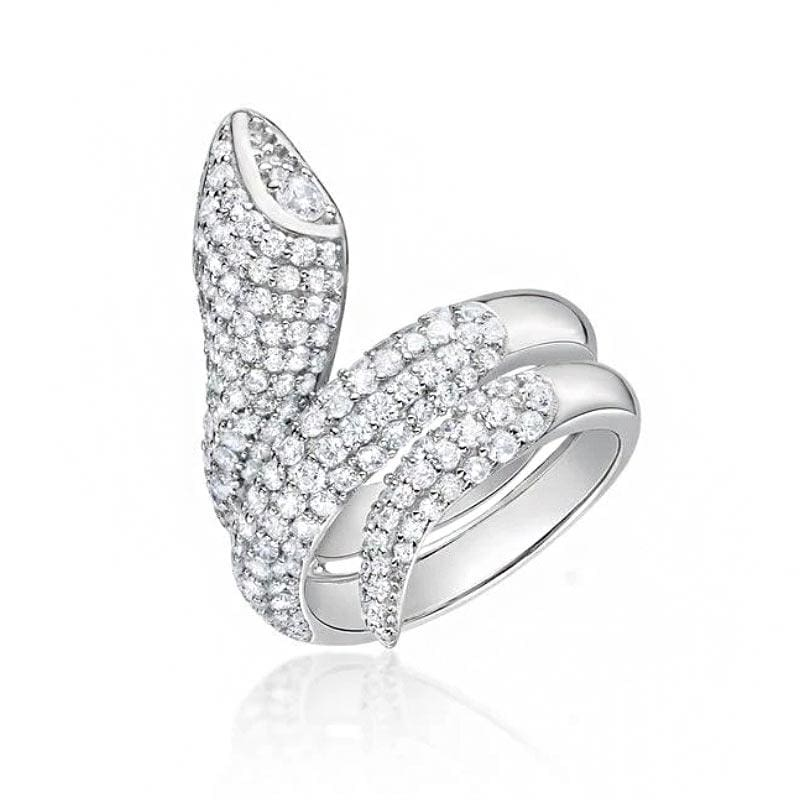 bague diamant serpent