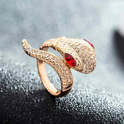 Bague Serpent<br> Eyes (Zirconium) - Bague