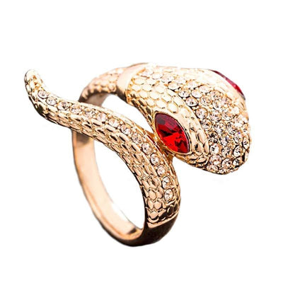 Bague Serpent<br> Eyes (Zirconium) - 50.6 / ROUGE - Bague