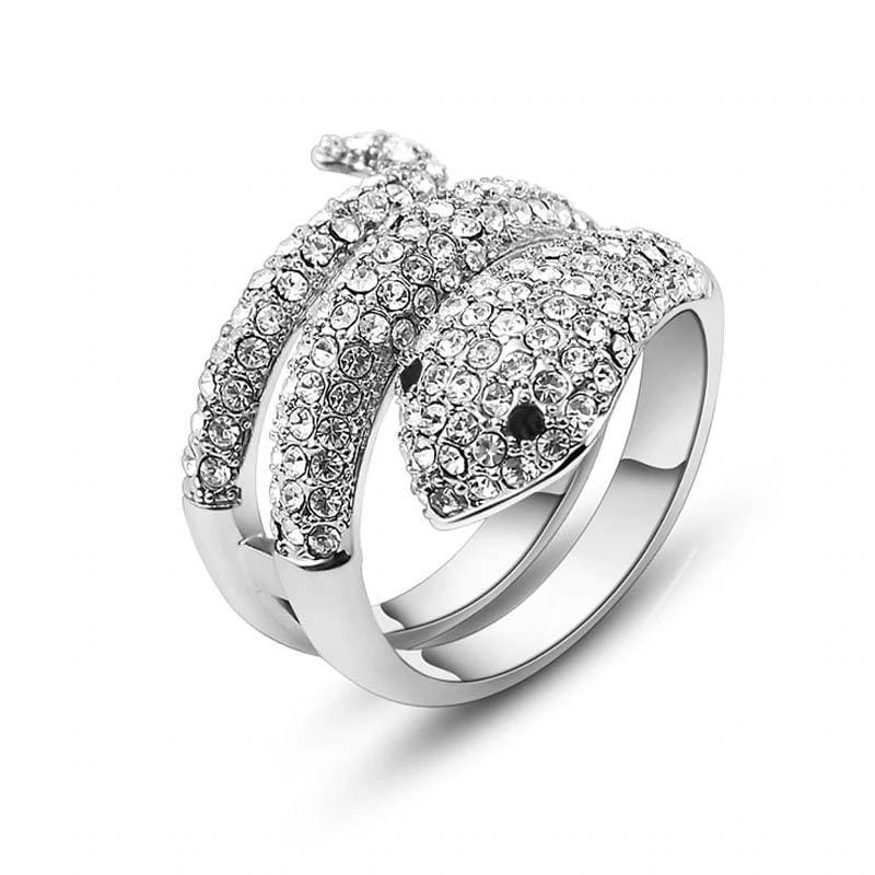 bague serpent zirconium krystal