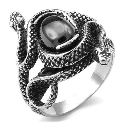 Bague Serpent Noir | Instinct Serpent