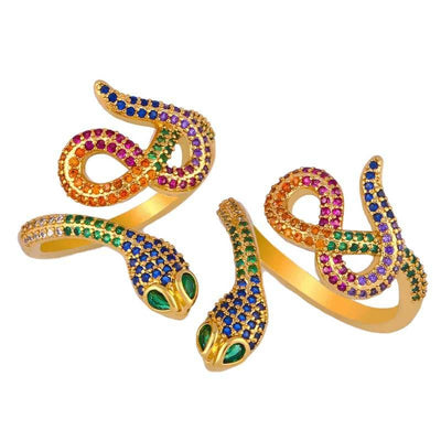 bague serpent or rainbow