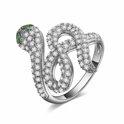 bague serpent zirconium verda
