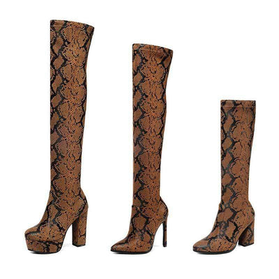 Bottes Python Marron | Instinct Serpent