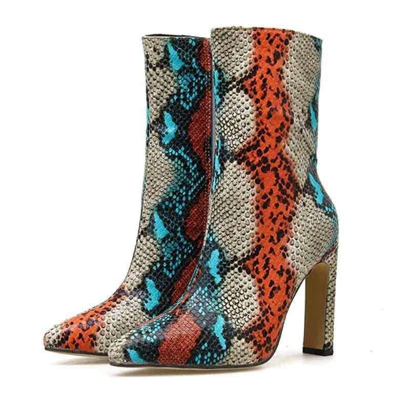 Bottines Effet Peau de Serpent | Instinct Serpent