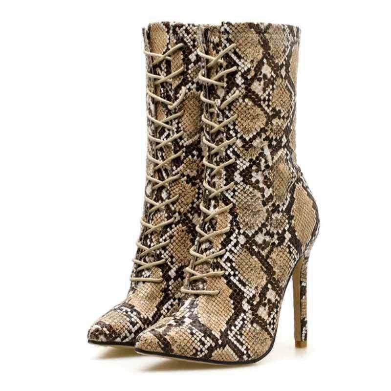 Bottines Femme Effet Serpent | Instinct Serpent