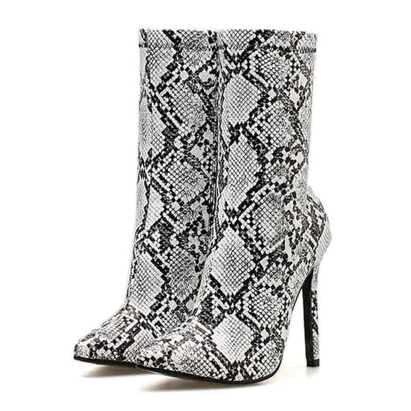 Bottines Femme Python Noire | Instinct Serpent