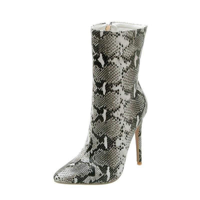 Bottines Python Grise | Instinct Serpent