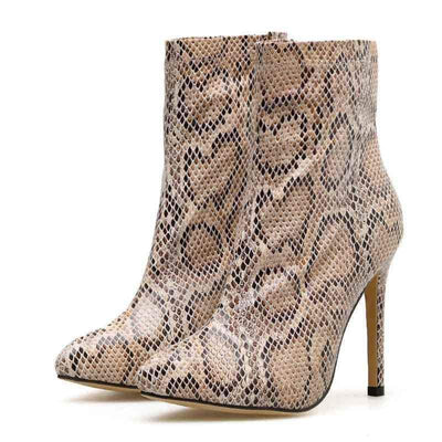 Bottines Serpent Beige | Instinct Serpent