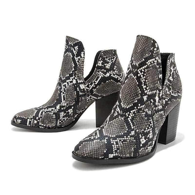 Bottines Serpent Noire | Instinct Serpent