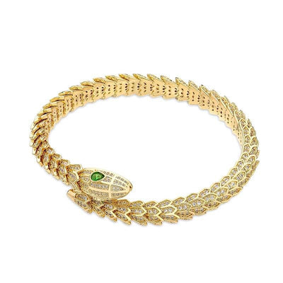 bracelet serpent or 18 carats
