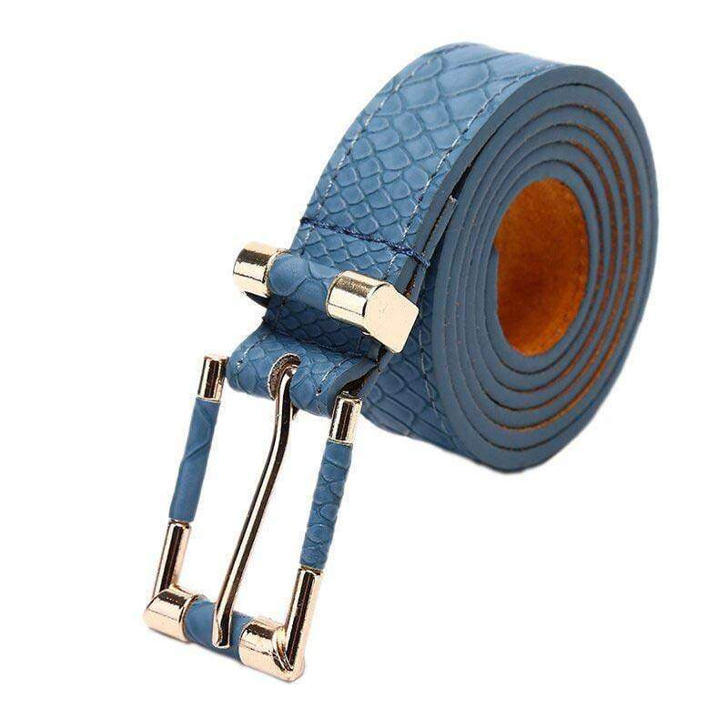 Ceinture Serpent Bleue | Instinct Serpent