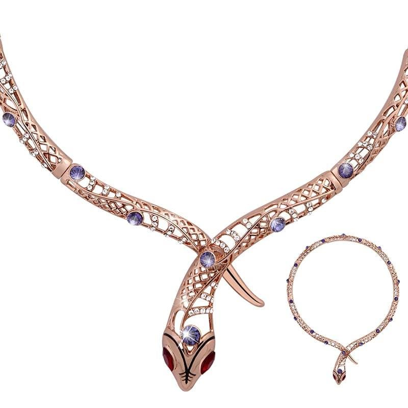 parure collier serpent
