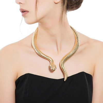 collier serpent reptilienne