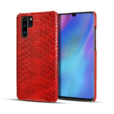 coque huawei serpent rouge