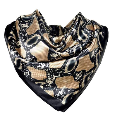 Foulard Carré Imprimé Serpent | Instinct Serpent
