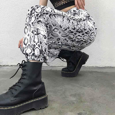 pantalon motif serpent
