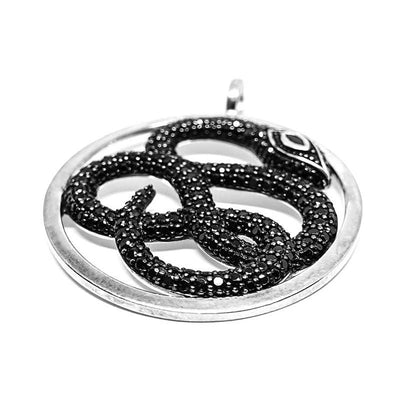 collier serpent black