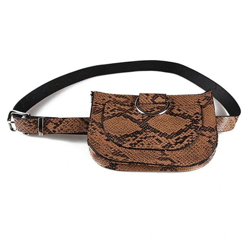 Sac Serpent<br> Besace Python - MARRON - Sac