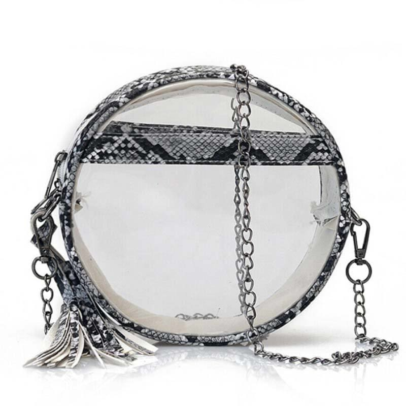 Sac Serpent<br> Circle (Transparent) - BEIGE - Sac