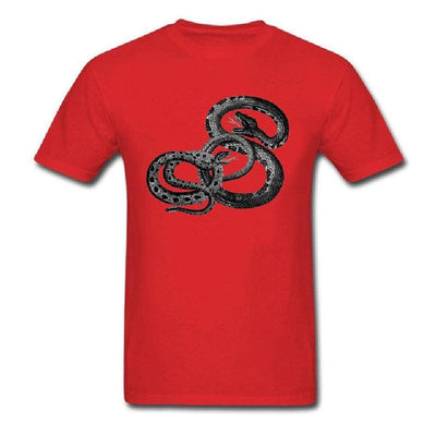 tshirt serpent combat rouge