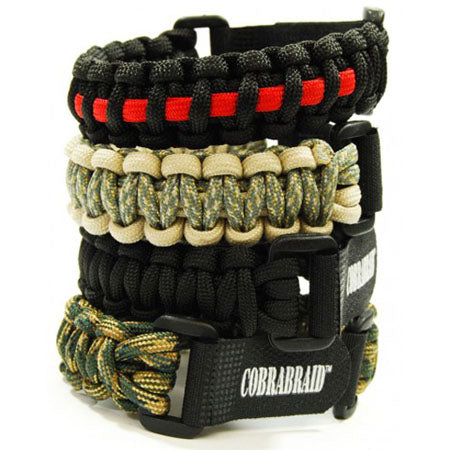 2 Monkey Cobrabraid Large Paracord Bracelet with Velcro